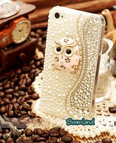 Angry OWL iphone 4 case bling by iPhoneCasesStyle, $24.65