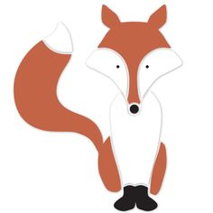 Fox Wall Stencil for Forest Themed Kids Mural or Nature Baby Nursery