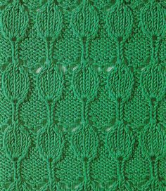 Aligned Teardrops Knitting Stitch. More Great Patterns Like This