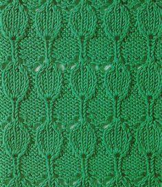 Aligned Teardrops Knitting Stitch