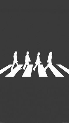 Beatles Abbey Road Music Illustration iPhone 5 Wallpaper
