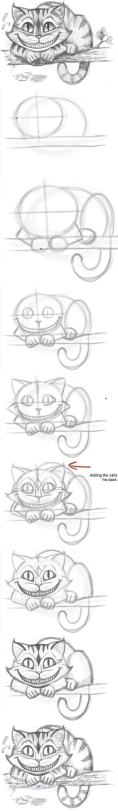DIY Easily Draw the Cheshire Cat Tutorial