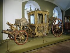 Carriage for Two Persons   Russia; St Petersburg   1739   oak, birch, velvet, iron, bronze   Kremlin State Historical Museum   Belonged to Empress Anna Ioannovna