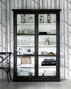 Large Rustic Glass Cabinet by Out There Interiors