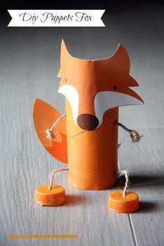 Marioneta de tubo de cartón. Fácil, rápida y monísima!