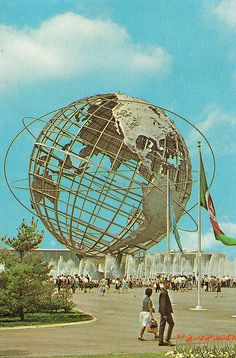 New York's World Fair. I remember putting a quarter in a machine and it would pour melted plastic in a mold and when it cooled out popped a plastic dinosaur. I think it was from Sinclair Oil.