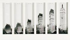 construction photos of world famous buildings and bridges