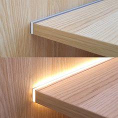 Led Shelf Lighting, Cove Lighting, Interior Lighting, Lighting Design, Cupboard, Cabinet, Luz Led, Led Strip, Aluminium Alloy
