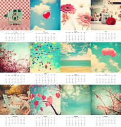 Cyber Monday Calendar 2013 Colorful Color geek by Andrekart, $25.00