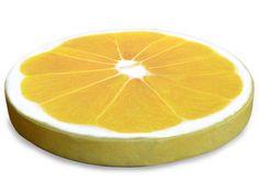 Saftige Deko - Zitronenscheibe aus Schaumstoff und bedrucktem Stoff.  Naturgetreue, fotorealistische Wiedergabe von Schnittfläche und Rand.  Super ...