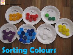 Colour Activities for Kids - Sorting Colours