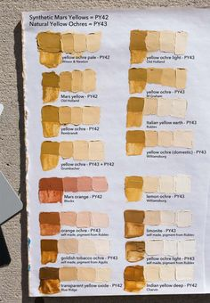 Yellow Ochre and Mars Yellow Comparison Chart Oil Painting Lessons, Oil Painting Techniques, Acrylic Painting Techniques, Painting Tutorials, Oil Painting For Beginners, Mixing Paint Colors, Color Mixing Chart, Oil Paint Colors, Portrait Art