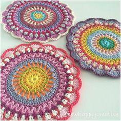 Crochet Mandala Pattern/Doily Table Mat PDF by SewHappyCreative More