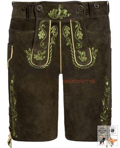 Seebruck Lederhose Kurz Braun Art. #MnS-60-0092945 Length: Short (Kurz) Material: Goat Leather Buttons: Animal horn DESCRIPTION Seebruck Lederhose Kurz for men by Moon Sports in peat. The goatskin model features traditional details such as the contrasting embroidery and the buttoned bib. Lacing on the waistband and at the leg ends ensure a perfect fit, while three pockets and belt loops skillfully complete the overall picture. Lederhosen, Perfect Fit, Bermuda Shorts, Overalls, Contrast, Moon, Buttons, Pockets, Belt