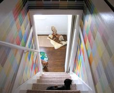Paint Chips - what a cool and cheap way to redecorate a small space!