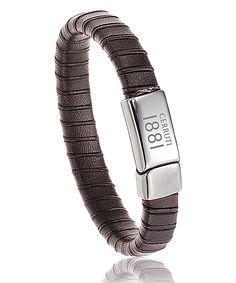 Bracelet Cerruti Centurion marron http://www.bijoux-pour-homme.eu/bracelet-cerruti-centurion-marron-p-19334.html