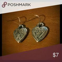 Silver Heart earrings Slightly used but just like new! Rue 21 Jewelry Earrings