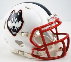 Connecticut Huskies Blue Riddell Mini Speed Helmet - Husky