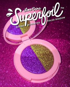 Lime Crime's revolutionary #Superfoils launch June 21st – twelve eyeshadows paired in six duos transform to a game-changing LIQUID FOIL metallic sheen when activated with a spritz of water!  Introducing the fourth reveal from our 6 duos, Cosmic/Firefly!  Subscribe to be notified the second it launches on limecrime.com/eyes #limecrime