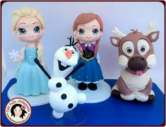 Frozen Theme Cake, Frozen Themed Birthday Party, 4th Birthday Cakes, Frozen Cake Topper, Frozen Party, Olaf Frozen, Disney Frozen Castle, Anna Frozen, Fondant Minions