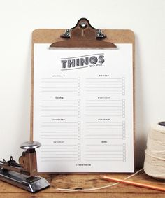 Print out this to-do list to stay organized.