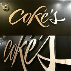 Today we have installed this logo in the new family business that will open soon. This has been cut on 18mm deep wood and stick on the wall. I think it looks very well.  #logo #logodesigns #wood #customletters  #lettering #letteringtime #calligraphymasters #calligraphymasters #mrkams #madrid #2016