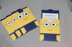 Despicable Me Minion Pocket Invitation