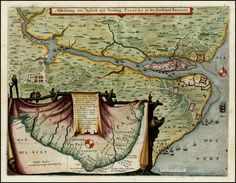 Illustration of the place and Vestung Parayba in the countryside of Brasilia 1639 - Matthaus Merian - Barry Lawrence Ruderman Antique Maps Inc.