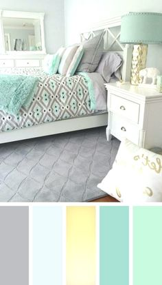 12 gorgeous bedroom color schemes that will give you inspiration for your next bedroom remodel – Decoration Ideas 2018 Next Bedroom, Small Master Bedroom, Home Bedroom, Room Decor Bedroom, Bed Room, Bedroom Black, Best Bedroom Colors, Bedroom Color Schemes, Colour Schemes