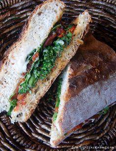 Vegan Tuscan White Bean & Roasted Tomato Sandwich