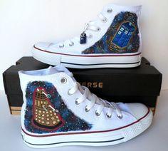 Doctor Who Converse - Dalek and Tardis. $109.95, via Etsy.