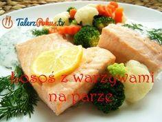 Łosoś z warzywami na parze Nasu, Meat, Chicken, Cooking, Fitness, Kitchen, Youtube, Recipes, Kitchens