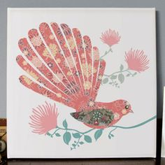 New Zealand Fantailana Canvas Print