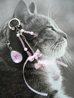 Bijou de sac/porte-clés *Etoiles et Flots, Noël Rose * : Autres bijoux par dys