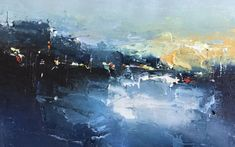 Gloaming Harbour - Acrylic on Paper Cityscape Art, Sheffield, Painting Inspiration, Landscape Paintings, Abstract, Paper, Artist, Artwork, Concrete