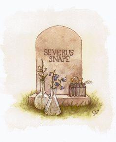 Source: dani-in-the-tardis. Severus Snape's grave. RIP Alan Rickman.