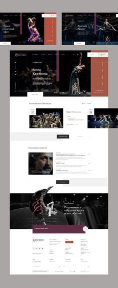 Petersburg Eifman Ballet on Behance Site Design, Ux Design, Portfolio Web Design, Ballet, Adobe Xd, Web Inspiration, Interactive Design, Behance, Photoshop
