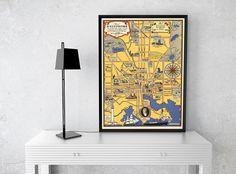 Carte picturale de Baltimore  Ancienne carte de Maryland