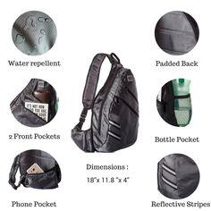 Camping And Hiking Shoes · 7Senses Sling Bag Crossbody Backpack Shoulder Bag  Travel Backpack Multipurpose Daypack for Men and Women   176915afc3