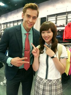 """Julien Kang with Sulli on the set of """"To the Beautiful You"""" To The Beatiful You, Best Dramas, Korean Dramas, Sulli, Her Brother, Korean Celebrities, Girl Names, Southern Prep, Kdrama"""