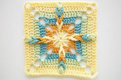 granny square starburst; http://craftyminx.typepad.com/a_granny_a_day/99-granny-squares/page/5/
