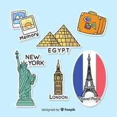 Egypt News, Paris Design, Sticker Ideas, Mandala Drawing, London Travel, Scrapbooks, Bujo, Vector Free, Stickers