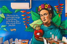 A gallery of murals and street art pieces by Fieldey. Wall Mural Frida Kahlo - Perth WA
