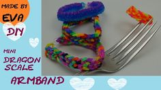 DIY Mini Dragon Scale Armband Rainbow Loom Anleitung deutsch mit GABEL 3-Pins…