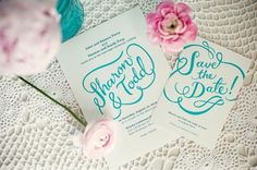 turquoise and pink wedding inspiration 015 Pink & Turquoise Tea Party {Decor Inspiration} Modern Wedding Stationery, Wedding Stationary, Wedding Invitations, Tea Party Wedding, Wedding Paper, Green Wedding, Summer Wedding, Tea Party Decorations, Save The Date Cards