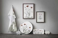 Poppy design, artprints, servingtrays, dishtowells, www.koustrupco.dk