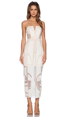 883556f8b0 Shona Joy Seidler Bustier Midi Dress in Ivory
