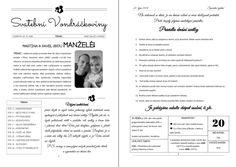 Svatební noviny - Svatební noviny - Obchod - Svatební tiskoviny Horoscope