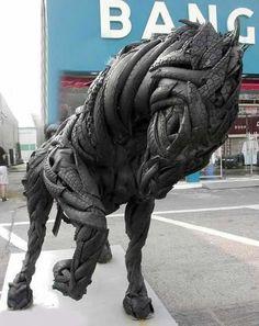 Ji Yong Ho - sculpture pneus (2)
