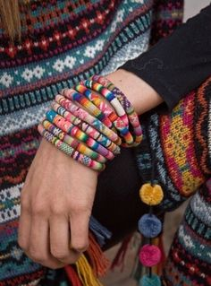 Beautiful Boho Knit Bracelets @Prudence Bretherton Smith